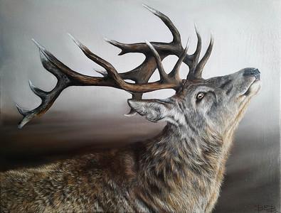 """Through the fog"" (oil on canvas) by Katsiaryna Parukava"