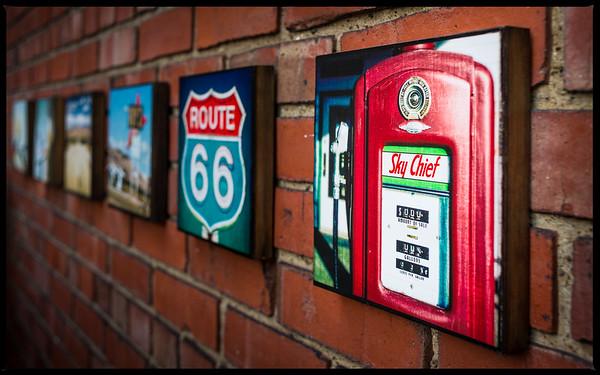 Route 66 Square Collage Prints