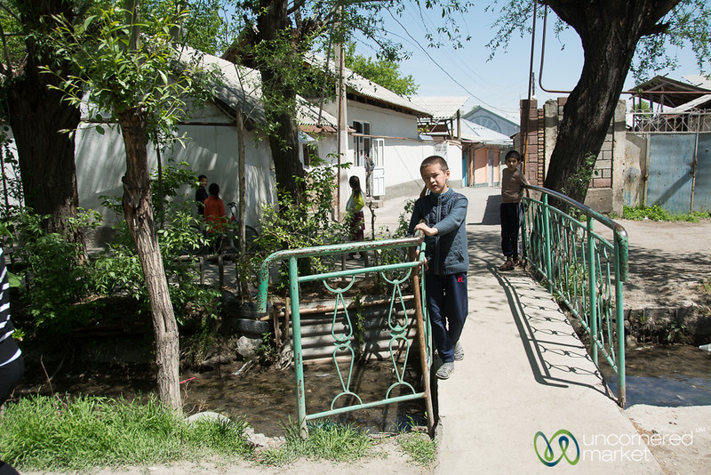 A Mahala, a traditional neighborhood in Osh, Kygyzstan