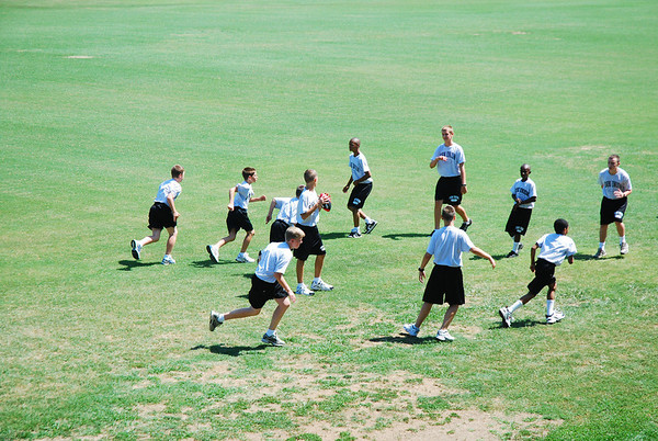Middle School Cadets enjoy Touch Football