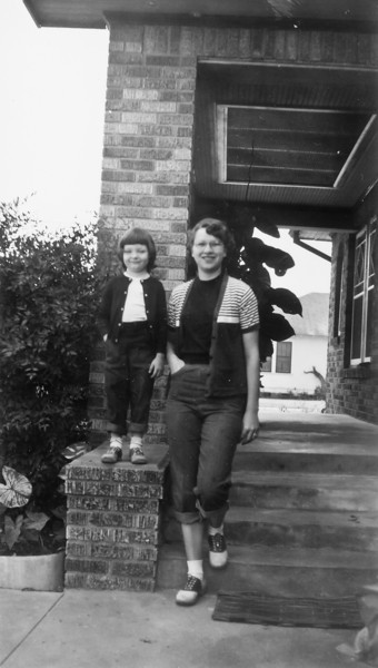 Sharon Curry and Maria Jacob Smock November 1951 1102 Omar Houston, Texas