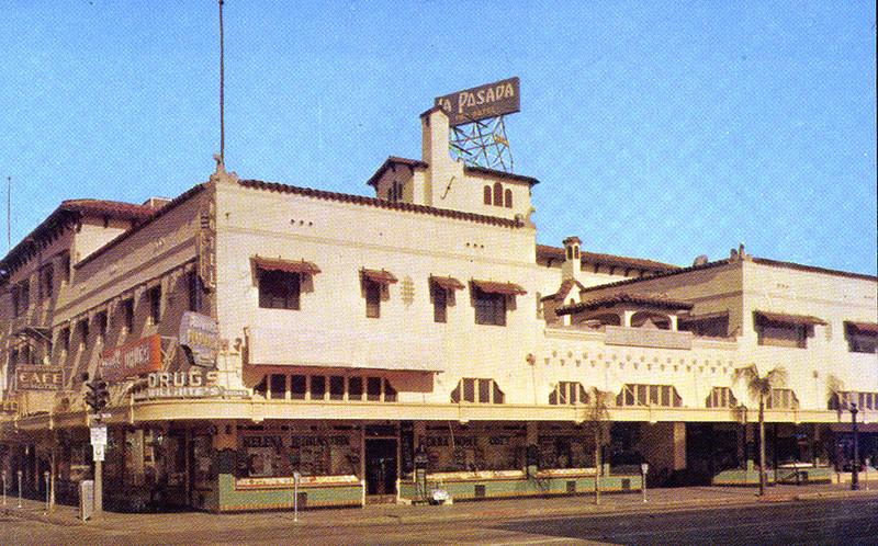 . Postcard of La Posada Hotel in downtown Redlands.