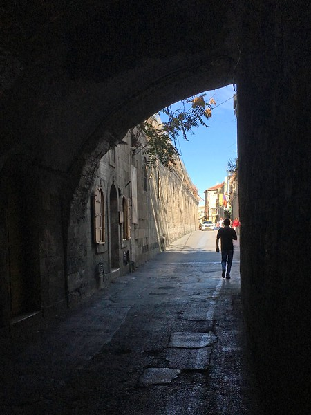 In the Armenian Quarter, looking north