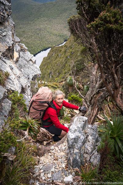 Descending gullies above Lake Ganymede