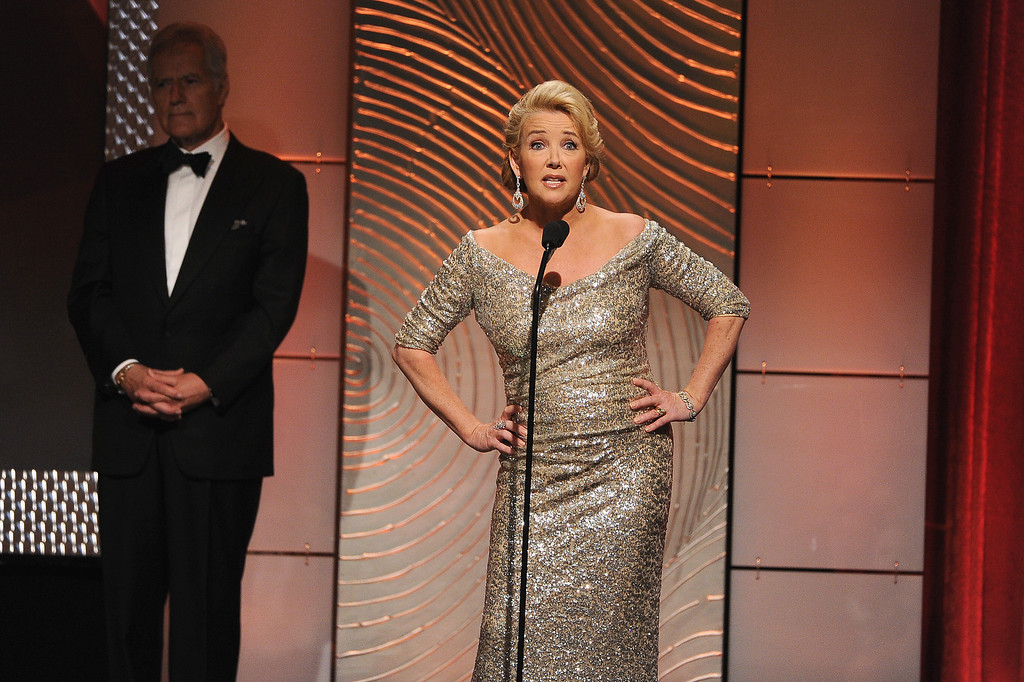 . Actress Melody Thomas Scott speaks onstage during The 40th Annual Daytime Emmy Awards at The Beverly Hilton Hotel on June 16, 2013 in Beverly Hills, California.  (Photo by Kevin Winter/Getty Images)