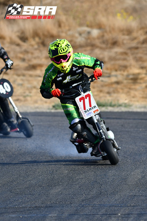 Go Ped Racer # 77 Yellow Helmet