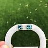 8.41ctw Blue Zircon Asscher Cut Bezel Earrings 15