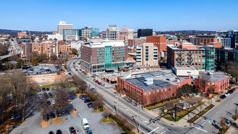 Downtown Greenville Crane