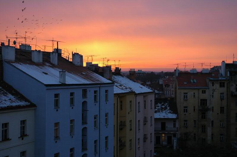Winter Sunset - Prague, Czech Republic