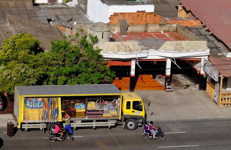 Cartagena Columbia Beverage Truck