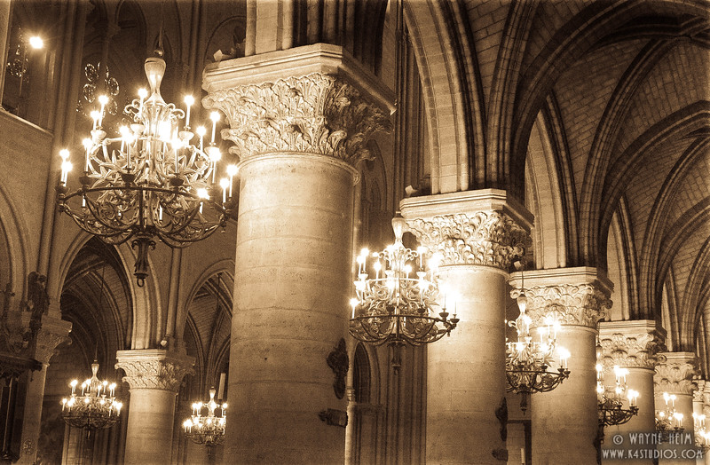 Pillars in Notre Dame   Photography by Wayne Heim