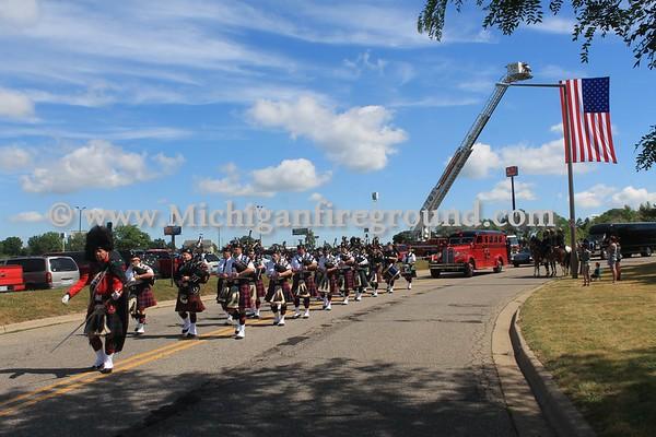6/21/17 - Comstock Fire Chief Ed Switalski Funeral Procession