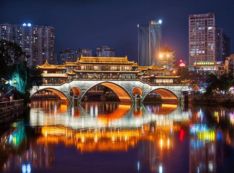 The Might Bridge In Chengdu