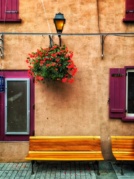 Taken in the old city in Quebec.  Embracing simplicity and color.