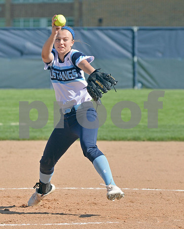 Downers grove South softball hosted Leyden Thursday
