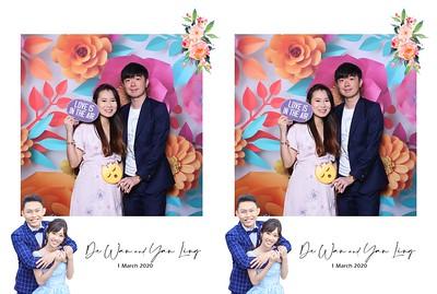 De Wan & Yan Ling 1 March 2020 Photobooth Album