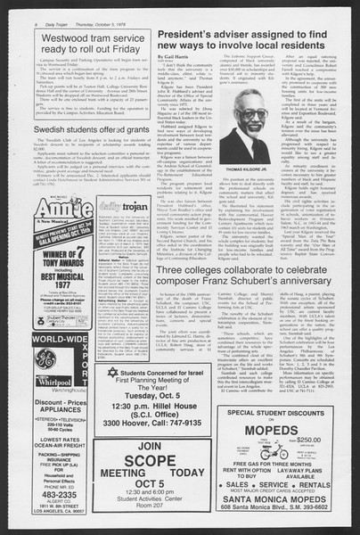 Daily Trojan, Vol. 75, No. 13, October 05, 1978