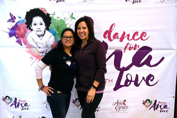 4/7/2018 Mike Orazzi | Staff Avra Alvarado and Debra Borrero during the 6th Annual Dance for Ana with Love held at the CREC Academy of Science and Innovation Saturday in New Britain.