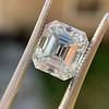 3.10ct Vintage Emerald Cut Diamond, GIA H VS1 37