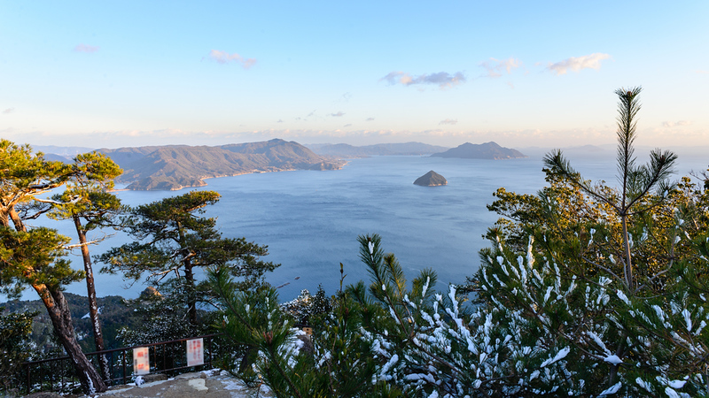 Seto Inland Sea from Mount Misen Summit, Miyajima