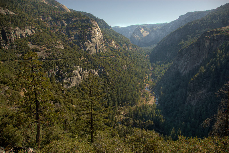 Overlooking view of Yosemite National Park in California