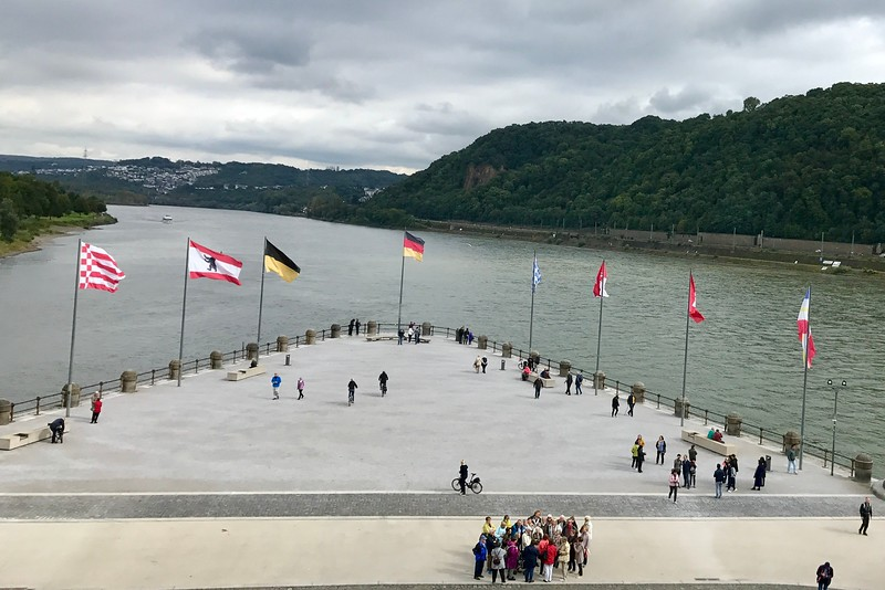 German Corner in koblenz