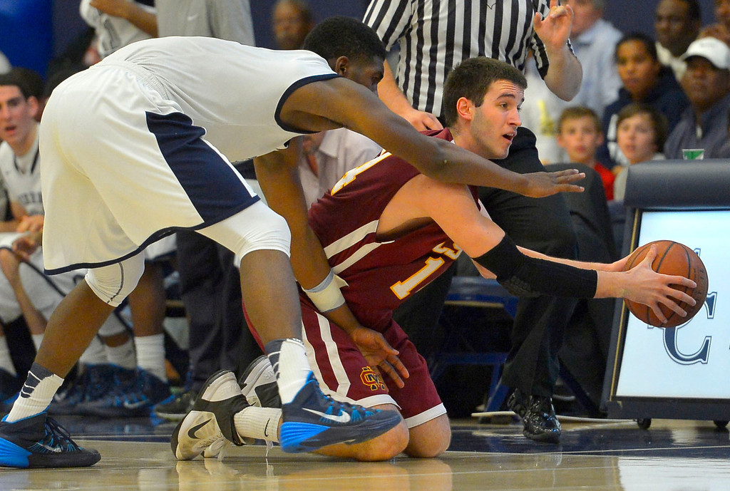 . Sierra Canyon is defeated by Cantwell-Sacred Heart 62-54 during their Division IV state regional semifinal game in Chatsworth, CA March 18, 2014.(Andy Holzman/Los Angeles Daily News)
