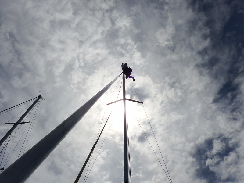 7/18 May at the top of the mast/