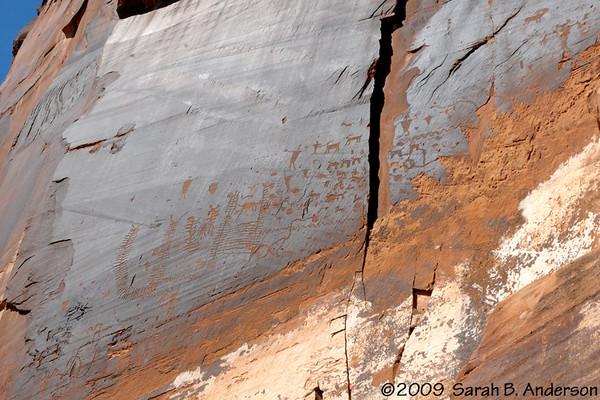 petroglyphs near Moab, Utah April 2009