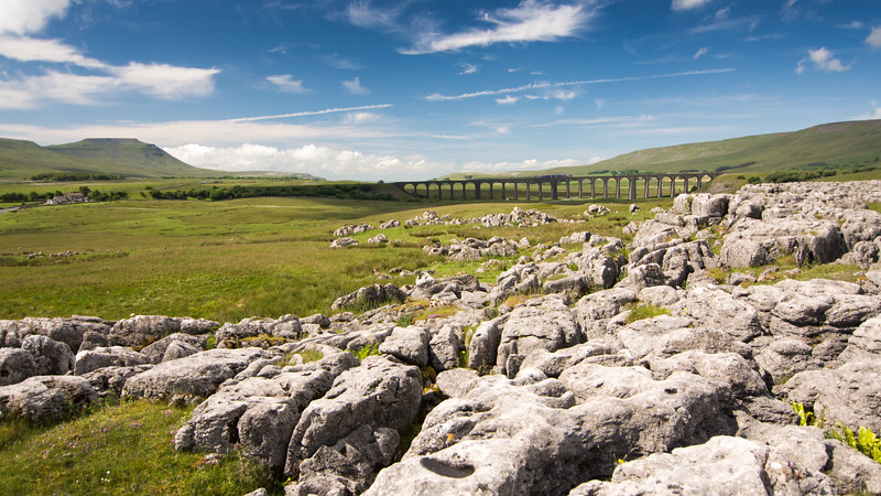 Train on Ribblehead Viaduct, Yorkshire Dales