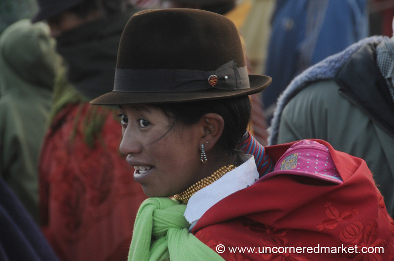 Colorful Market Goer - Zumbahua, Ecuador