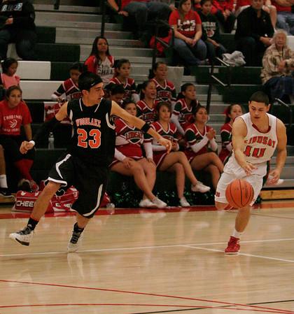 Woodlake @ Lindsay Boy's Basketball 2-13-14