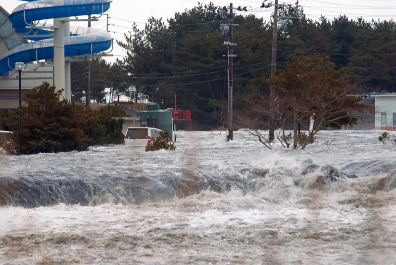 . The area is flooded by tsunami in Iwaki, Fukushima Prefecture (state) as Japan was struck by a magnitude 8.9 earthquake off its northeastern coast Friday, March 11, 2011. (AP Photo/Kyodo News)