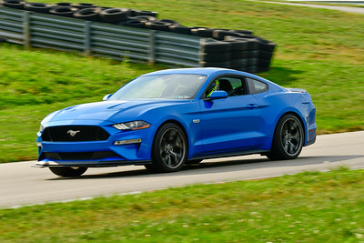 2019 SCCA TNiA Sept Pitt Race Blu Mustang