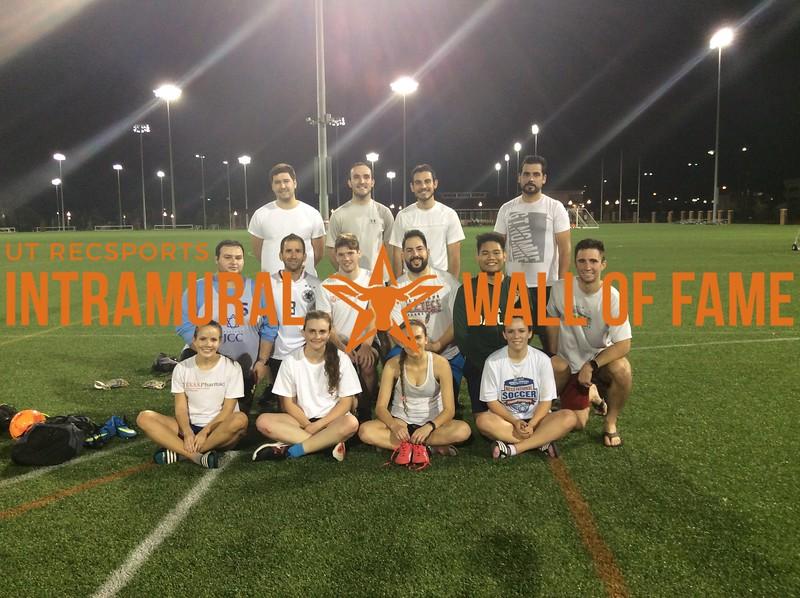 7v7 Fall 2017 Soccer Coed B Runner Up FC Pharmalona