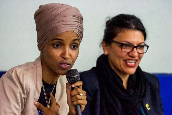 Ilhan Omar and Rashida Tlaib in Minneapolis