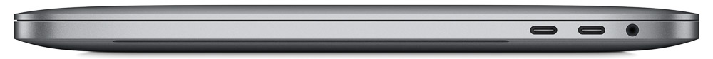 Right side view of the 2016 MacBook Pro showing Thunderbolt 3/USB-C and audio ports. Image courtesy Apple Inc.