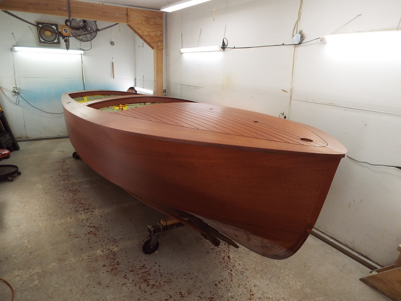 Starboard side stained.