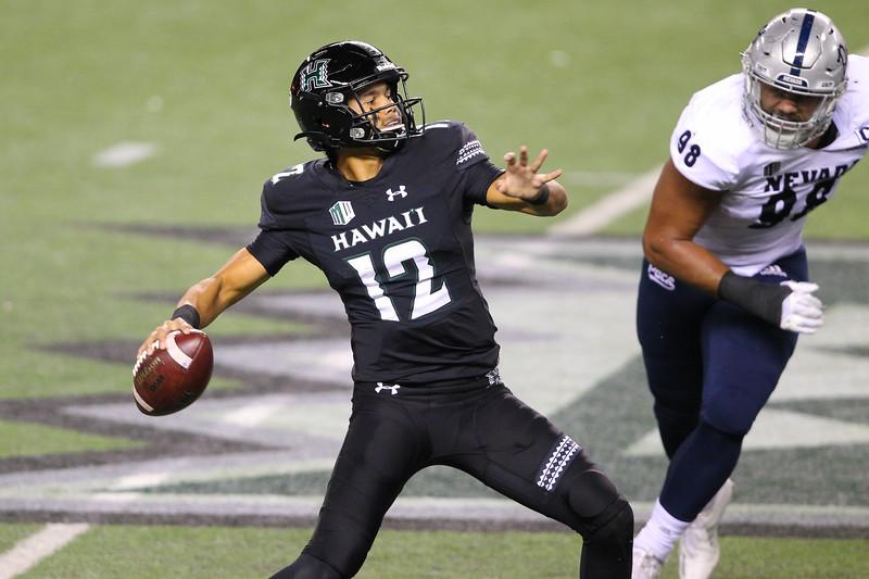 Hawaii Knocks Off Previously Unbeaten Nevada, 24-21, on November 28, 2020