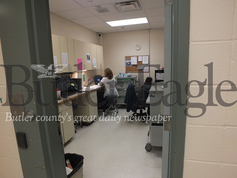 Butler County Prison staff in the jail's medical unit.
