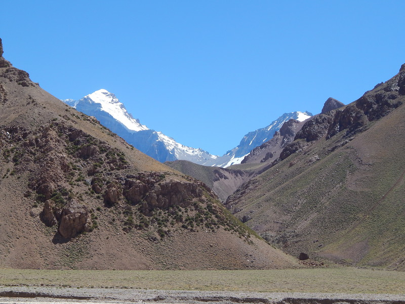 1st view of Aconcagua, Day 2
