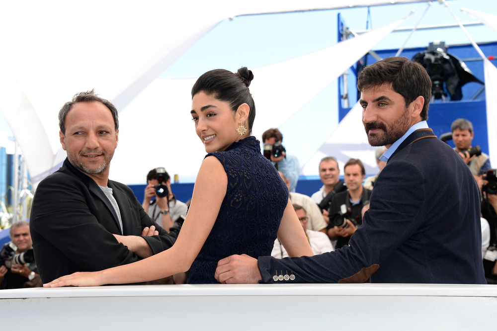 . Director Hiner Saleem, actress Golshifteh Farahani and actor Korkmaz Arsla attends the \'My Sweet Pepper Land\' Photocall during the 66th Annual Cannes Film Festival on May 22, 2013 in Cannes, France.  (Photo by Pascal Le Segretain/Getty Images)
