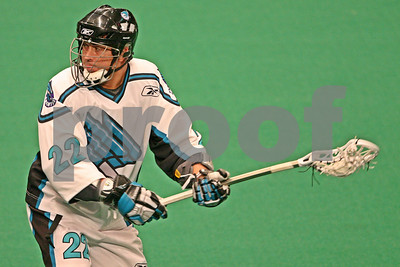 2/15/2009 - Lacrosse LEGEND Gary Gait scores a behind the back goal with his eyes closed for the hat trick - Rochester Knighthawks vs. New York Titans - Madison Square Garden - New York, NY