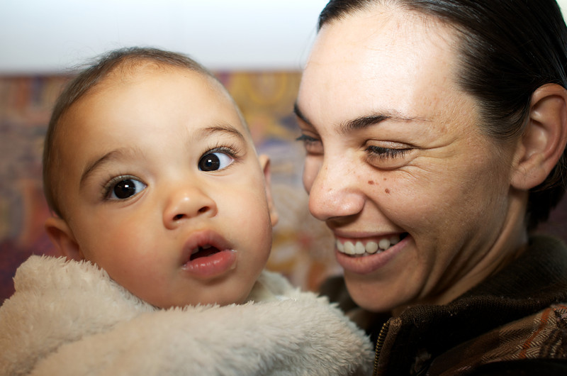 Indigenous Australian Baby Boy with his Mother