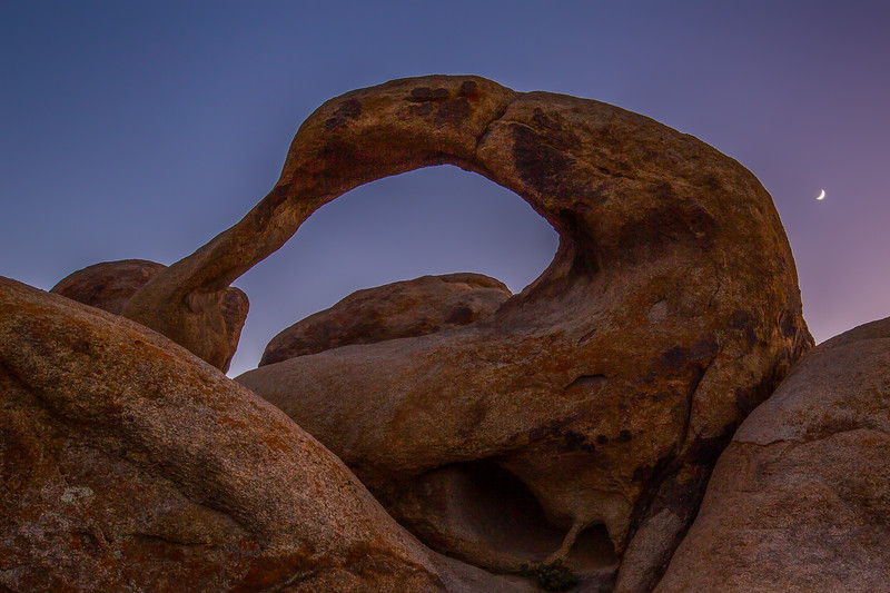 Mobius Arch, Crescent Moon