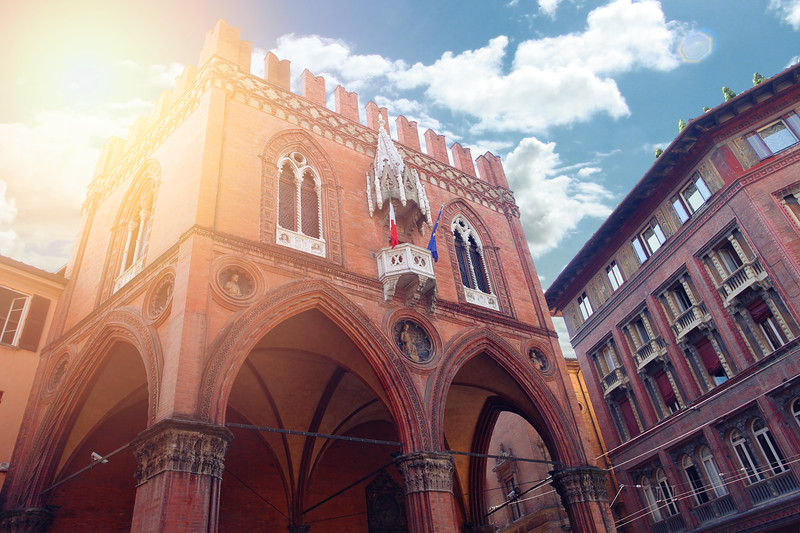 Cityscape Of Modena, Biuld In Medieval Town. Italy