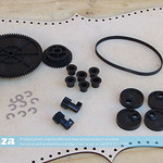 SKU:  F-INK/STATION/GEARS, Gear Set of All Gears, Clips and 97MXL Timing Belt for Lifting Printhead Ink Capping System