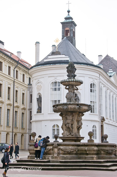 Fountain in the Prague Castle Courtyard
