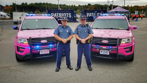 Pink Patch Project Cruisers at Gillette Crucial Catch Game - 10.10.2019