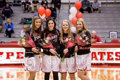 Perry Girls Basketball Senior Night vs North 2-13-17